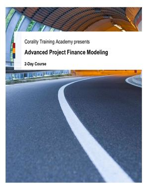 Corality Academy Advanced Project Finance Modeling