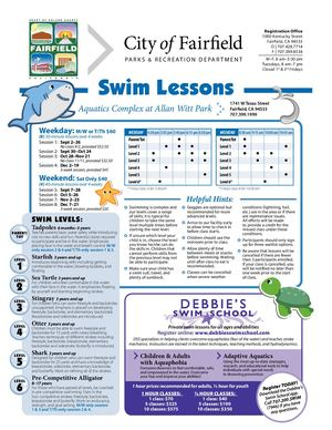 Fairfield Flier Fall 2019 - Swim Lessons And Debbie School
