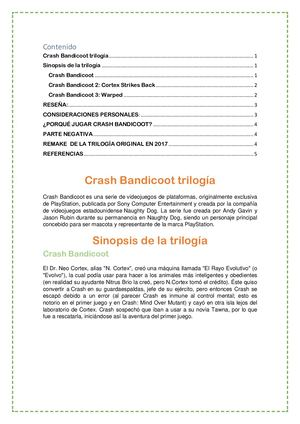 Crash Bandicoot Docx