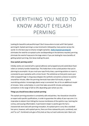Everything About Dolly's Eyelash Perming Kit