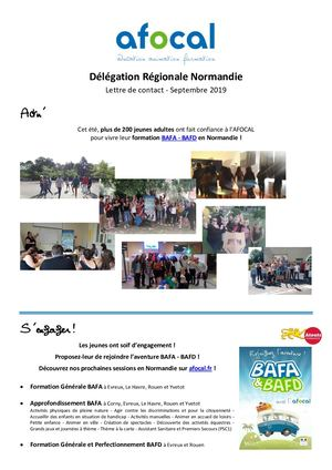 AFOCAL - Lettre de contact Normandie - 09.2019