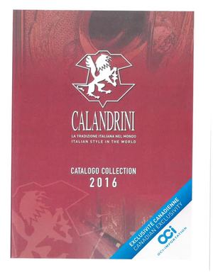 Calandrini 2016 English Catalog