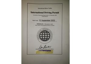 INTERNATIONAL DRIVERS LICENSE PERMIT {9 13 19} Rotated 90