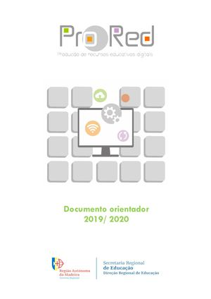 Documento Orientador ProRed 2019_2020