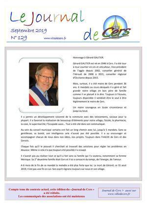 JOURNAL DE CERS -SEPTEMBRE 2019