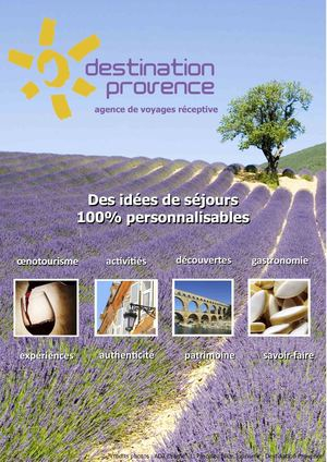 Catalogue GROUPES 2020 - Destination Provence