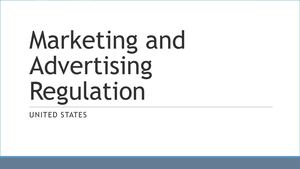 Marketing And Advertising U S A Regulation