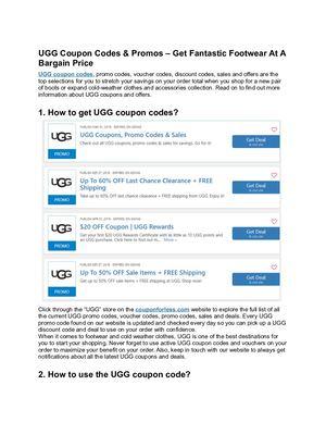 Calaméo - Ugg Coupon Codes \u0026 Promos