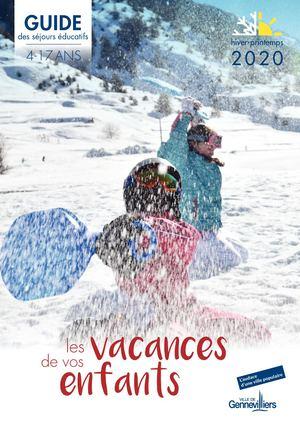 Séjours éducatifs 4-17 ans - hiver-printemps 2020