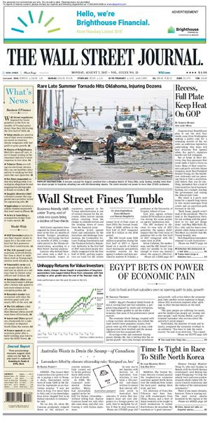 Calaméo Wallstreetjournal 20170807 The Wall Street Journal