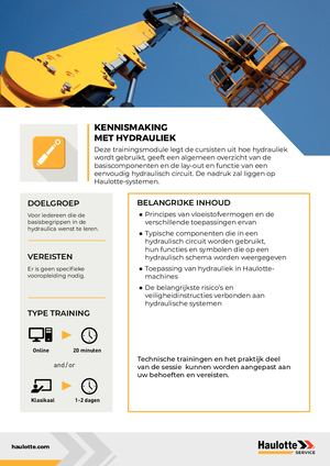 HYDRAULICS - NL - TRAINING
