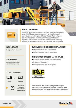 IPAF - NL - TRAINING