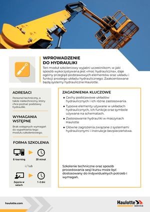 HYDRAULICS - PL - TRAINING