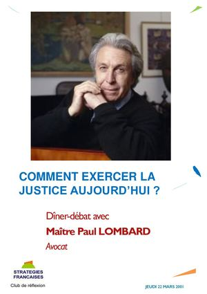 Paul Lombard, avocat