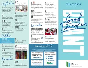 Good Times in Brant 2019 Events Brochure