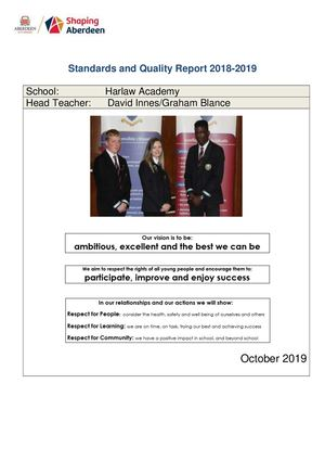Standards And Quality Report October 2019