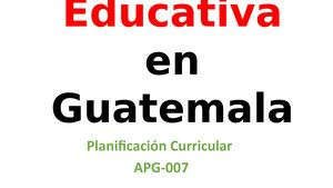Reforma Educativa Planif Curricular