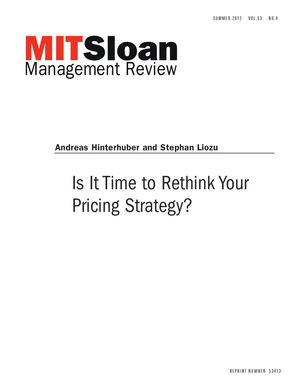 Stephan Liozu Is It Time To Rethink Your Pricing Strategy