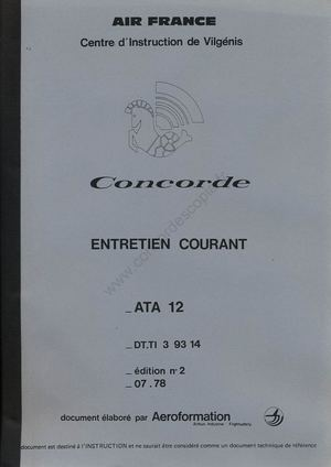 Document ATA Concorde Air France