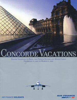 Brochure Concorde Vacations 2001 2002