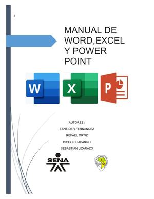 Manual De Word ,Excel , Power Point