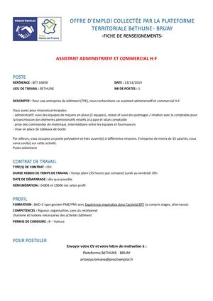 Assistant Adm Et Co