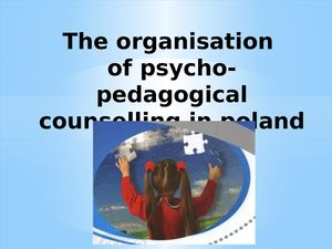 The Organisation Of Psycho Pedagogical Counselling In Poland