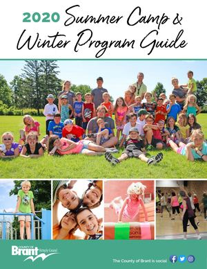 2020 Summer Camp and Winter Program Flyer