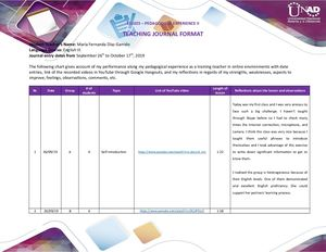 Teaching Journal Format B
