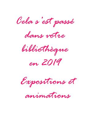 expositions et animations 2019