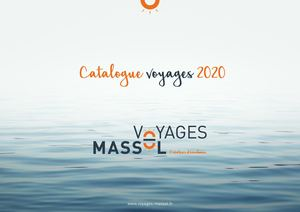 Catalogue voyage Massol 2020