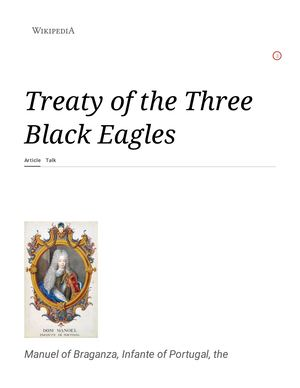 TREATY OF THE THREE BLACK EAGLES  [1732]