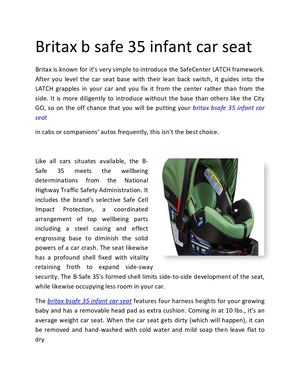 Britax B Safe 35 Infant Car Seat Converted