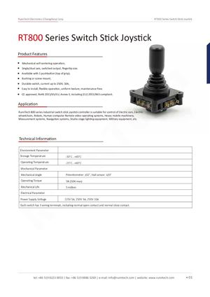 RunnTech RT800 Series Switch Stick Joystick