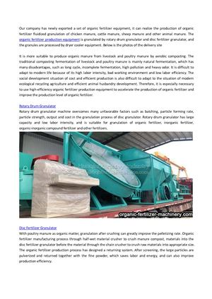 Delivery Site Of Organic Fertilizer Granulation Production Equipment