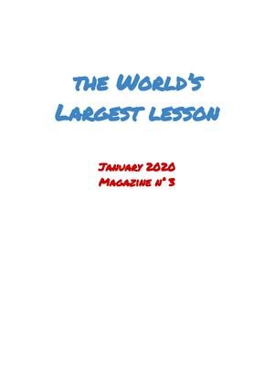 World Largest Lesson Magazine Nr 3