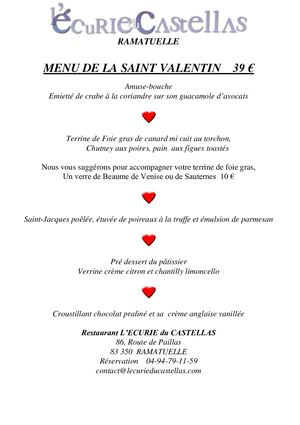 Menu Saint Valentin 20