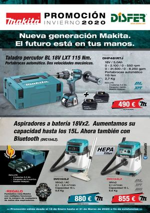 Disfer Makita Folleto Promo Invierno Ene20