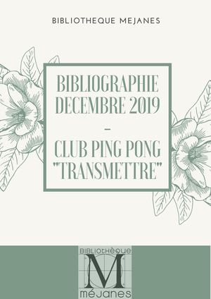 Bibliographie Decembre 2019 Club Ping Pong