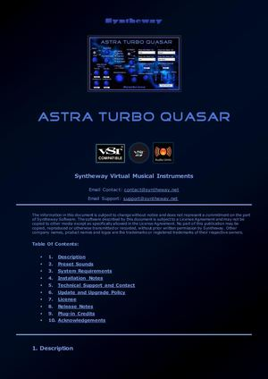 Astra Turbo Quasar VST VST3 Audio Unit Dual Phase Distortion Synthesizer: Leads, Pads, Keys, Atmos Textures, Ambient Soundscapes