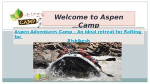Aspen camp provide best adventure packages.