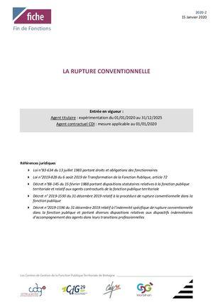 Calameo Fonction Publique Territoeiale La Rupture Conventionnelle