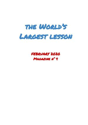 World Largest Lesson Magazine Nr 4
