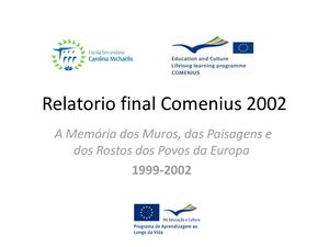 Relatorio Final Comenius 2002