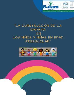 Calaméo La Construcción De La Empatía En Los Niños Y Niñas En Edad Preescolar