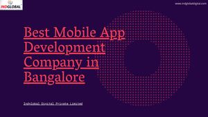 Best Mobile App Development Company In Bangalore,india