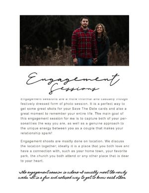 4 Engagement Photo Sessions