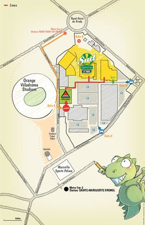 Japan Expo Sud: access map