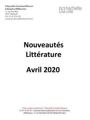 Calameo Catalogue Complet Nouveautes Avril 2020