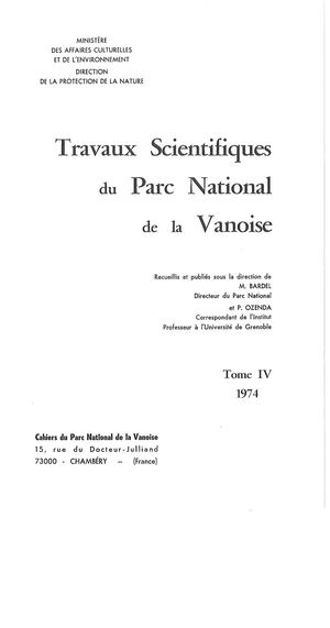 Travaux Scientifiques Tome Iv (1974)